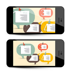 infographic design application on phone vector image