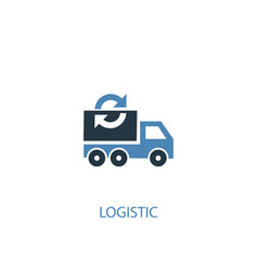 logistic concept 2 colored icon simple blue vector image