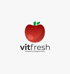 logo fresh tomato color style vector image