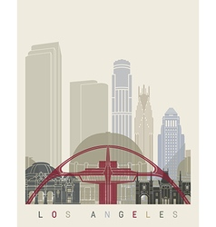 Los Angeles skyline poster vector