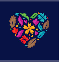 Love floral vector