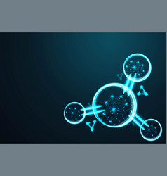 molecule abstract wire low poly polygonal wire vector image