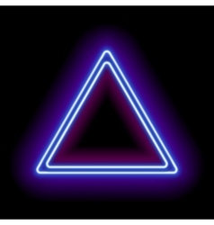 Neon abstract triangle vector image