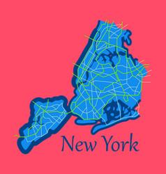 New york city map - flat vector