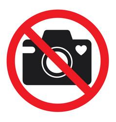 No cameras allowed sign vector