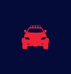 off-road 4x4 suv icon vector image