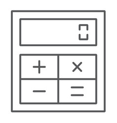 online calculator thin line icon finance banking vector image