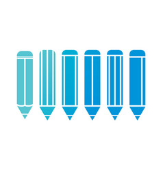 pencil blue vector image
