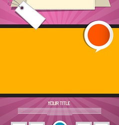 Pink and Orange Leaflet or Poster Retro Template vector image