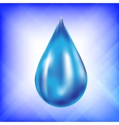 Realistic Water Drop Icon vector image