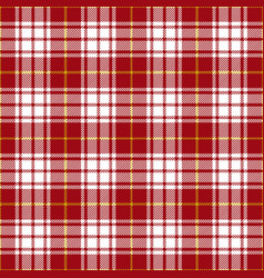 red and yellow tartan plaid seamless pattern vector image
