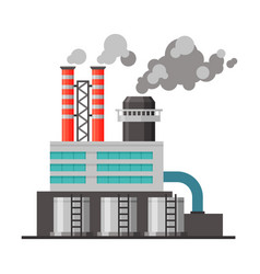Refinery plant industrial factory building vector