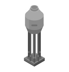 Refinery plant tank icon isometric style vector