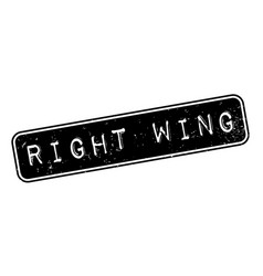 Right wing rubber stamp vector
