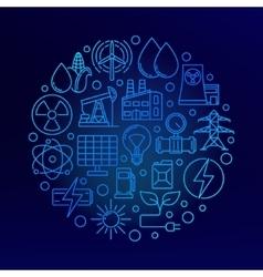Round energy concept symbol vector