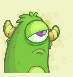 sad monster vector image