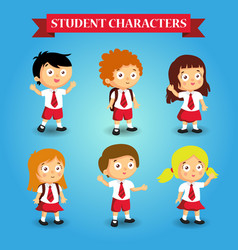 school kids student study cartoon vector image