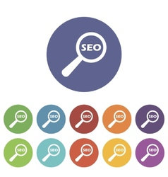Seo search flat icon vector image