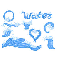 set water shapes in isolate on a white vector image