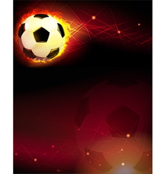 Soccer ball and trail of fire vector