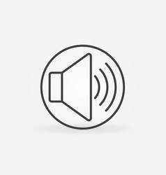 sound volume outline concept round icon vector image