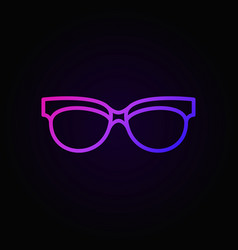 spectacles linear colored icon sunglasses vector image
