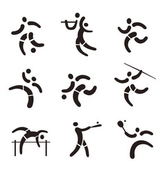 sport fitness expressive icons vector image