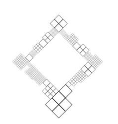Square frame border - abstract modern graphic vector