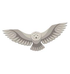 stylized owl woodland forest vector image