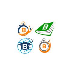 Symbol b template set vector