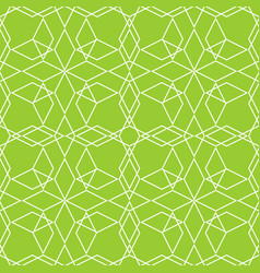 tile line pattern or green and white wallpaper vector image