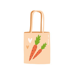 trendy reusable eco bag plastic free sustainable vector image