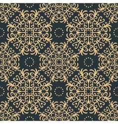 Vintage seamless pattern on dark background vector image