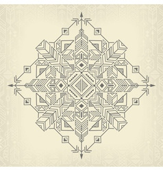 vintage tribal background vector image