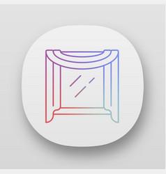 Window scarf app icon top coverings room vector