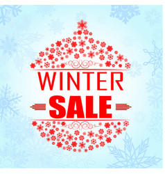 winter sale background banner vector image