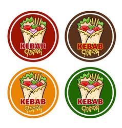 Wrap kebab cheese vector