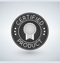 certified icon tag label badge sign sticker format vector image