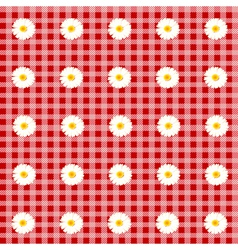 flower table cloth vector image vector image