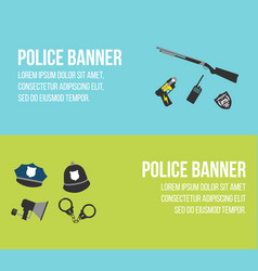 police logos and banners vector image vector image