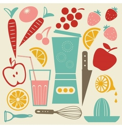 Summer kitchen vector image