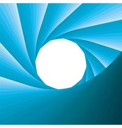 Abstract blue aperture vector