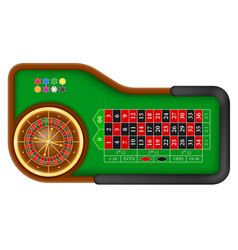 casino roulette table stock vector image