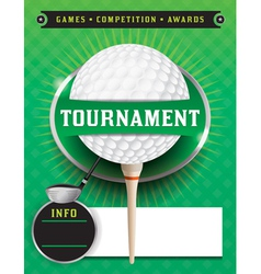 Golf Tournament Template vector image vector image