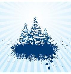 Grunge Christmas banner vector image