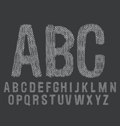 hand drawn doodle font vector image vector image