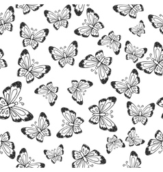 Seamless pattern with hand-drawn insects vector image vector image