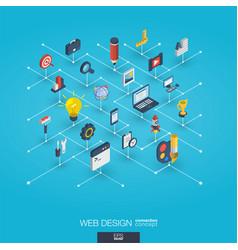 web development integrated 3d icons digital vector image