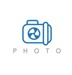 abstract icon design template of photo camera vector image vector image