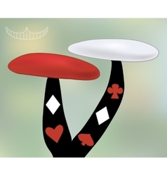 Alice Mushroom from Wonderland World vector image vector image